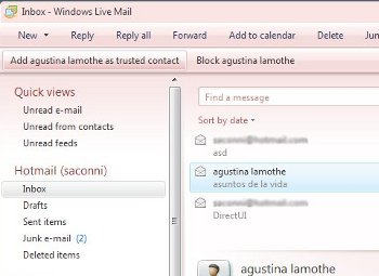 Windows Live Mail Anti-Spam Toolbar Sample